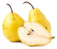 对黄色成熟,水多的梨 图库摄影