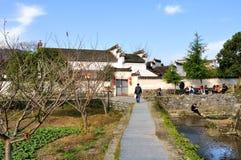 对绘画西迪村庄的入口  免版税库存图片