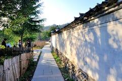 对绘画西迪村庄的入口  库存照片