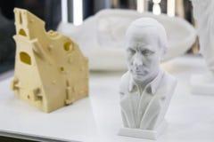 对3D打印机bas普京总统的扫描 库存图片