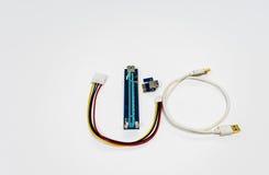 对16X PCI-E造反者缆绳的供给动力的1X 库存图片
