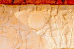 对300 spartans的纪念品, Thermopylae,希腊 免版税库存照片