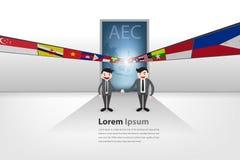对aec的门户在传染媒介样式eps10 免版税库存图片