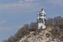 对Artem的纪念碑在2017年4月16日的Svyatohirsk 免版税库存照片