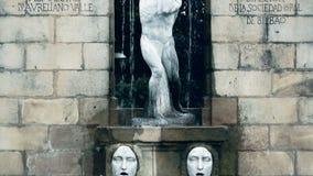 对Aureliano瓦尔,西班牙作曲家,差事主任的纪念碑在毕尔巴鄂,西班牙 影视素材