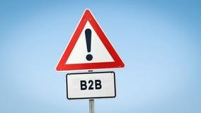 对B2B的路牌 向量例证