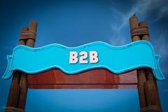 对B2B的路牌 免版税库存照片