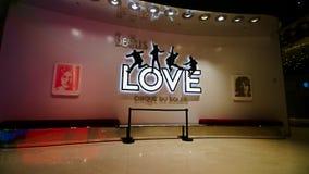 对Beatles太阳马戏团剧院爱展示的入口 免版税图库摄影