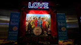 对Beatles太阳马戏团剧院爱展示的入口 免版税库存照片