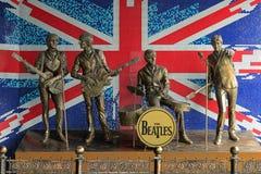 对Beatles的纪念碑在顿涅茨克 库存照片