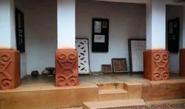 对Besease传统Asante寺庙的看法在, Ejisu,库马西,加纳 图库摄影