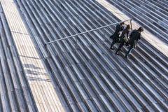 对Bliotheque Nationale弗朗索瓦・密特朗的步在巴黎 免版税库存照片