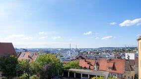 对boeblingen辛德尔芬根德国的全景 库存照片