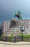 对Bogdan Khmelnitsky,基辅, Ukraina的纪念碑 免版税库存照片