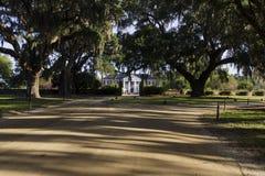 对Boone霍尔种植园的入口 免版税库存照片