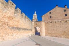 对Burgo de Osma中世纪镇的主要公共频道播送 免版税库存照片