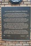 对Calusa的进贡和森密诺尔人印地安人在威尼斯佛罗里达 库存图片