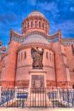 对Cathedrale Notre Dame d ` Afrique的外视图在阿尔及尔,阿尔及利亚 图库摄影