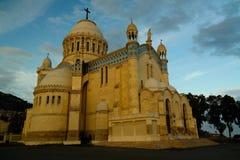 对Cathedrale Notre Dame d ` Afrique的外视图在阿尔及尔,阿尔及利亚 免版税图库摄影