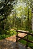 对Chalupska板条的木步行 免版税库存图片