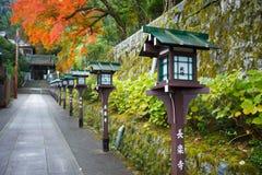 对Choraku籍寺庙的楼梯在京都 库存图片