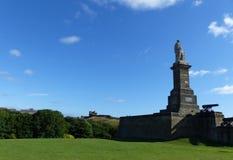 对Collingwood, Tynemouth海军上将的纪念碑 库存照片