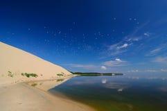 对curonian唾液从海湾,俄罗斯, Zelenogradsk的看法 库存照片