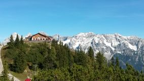 对Dachstein的山景从Hochwurzen 库存图片