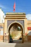 对Dar帕哈Tezi的门在麦地那 Fes 摩洛哥 免版税库存照片