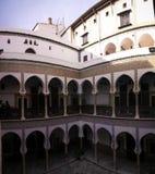 对Dar穆斯塔法帕哈宫殿,阿尔及尔,阿尔及利亚Casbah的看法  免版税库存照片