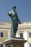 对de Richelieu公爵的纪念碑在傲德萨,乌克兰 免版税库存照片