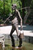 对Dureman传染性的水蛭的纪念碑,木偶奇遇记的传说的英雄 库存照片