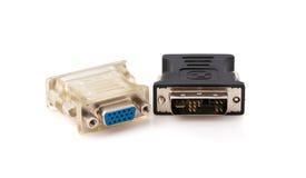 对DVI显示交换器的VGA 库存照片