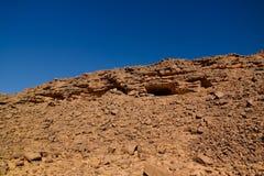 对El Berdj山的空中全景和尔格在Tassili nAjjer国家公园,阿尔及利亚狼吞虎咽 库存照片