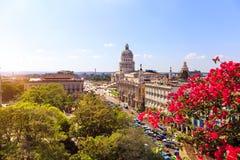 对El Capitolio的看法 库存照片