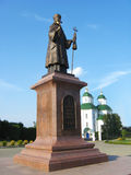 对Eoasaf Belgorodscky主教的纪念碑在Priluky 免版税库存照片