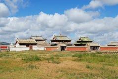 对Erdene Zuu修道院的大厦的看法在Kharkhorin,蒙古 库存照片