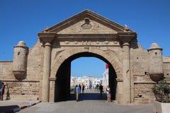 对Essaouira的入口门,摩洛哥 库存照片