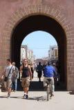 对Essaouira的入口门,摩洛哥 库存图片