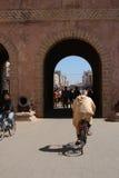 对Essaouira,摩洛哥的入口门 库存照片