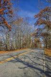 对FDR国家公园的风景车行道 免版税图库摄影