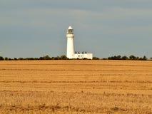 对flamborough头沿海道路灯塔的Bridlington 免版税库存照片