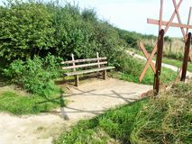 对flamborough头沿海道路灯塔的Bridlington 免版税库存图片