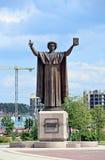 对Francisk Skarina的纪念碑在米斯克 图库摄影