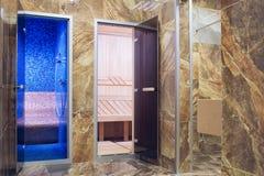 对hammam和浴的入口 免版税库存图片