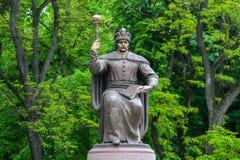 对Hetmanate的哥萨克司令官的纪念碑在左银行乌克兰伊万・马泽帕中 免版税库存图片