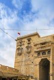 对Jaisalmer堡垒,拉贾斯坦的入口门 库存照片