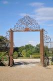 对Jallanges城堡的入口 库存照片