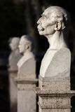 对Janiculum的雕象演说者头部特写在罗马,意大利 免版税库存照片