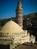 对Jibla老市和前犹太教堂的看法在也门 免版税图库摄影